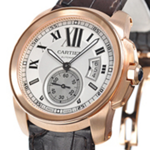 Replica Calibre de Cartier Rose Gold Automatic Watch W7100009
