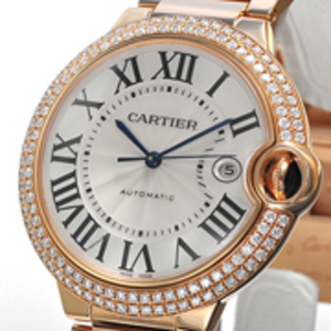 Replica Cartier Ballon Bleu Diamanten Gold Automatik -Uhr WE9008Z3