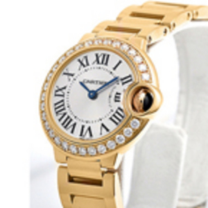 Replica Cartier Ballon Bleu Diamanten Gold- Damenuhr WE9001Z3