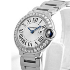 Replica Cartier Ballon Bleu Diamanten Damenuhr WE9003Z3